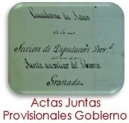 Actas Juntas Provisionales de Gobierno